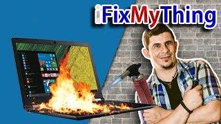 Επισκευή Laptop με ψήσιμο! ► i Fix My Thing! 💻🛠🔥
