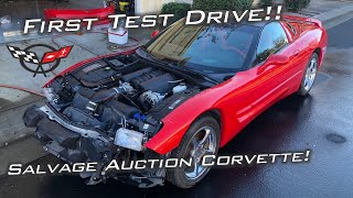 Taking My Salvage Auction C5 Corvette for its First Drive!! #StreetLegalGoKart