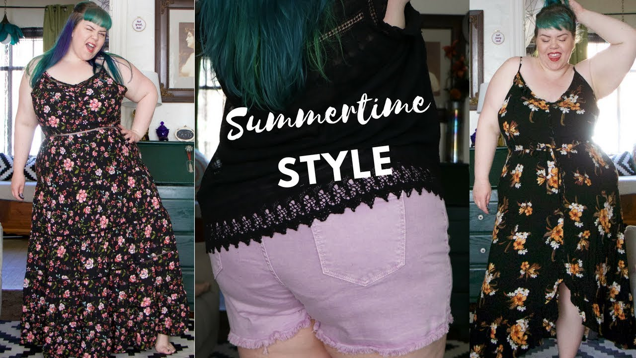 Plus Size Outfit Ideas! Maxi Dress & Shorts Try On Haul - YouTube
