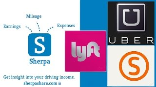 Ride Sharing Sherpashare - Drivers Income - Uber X | Lyft | Sidecar DRIVER ANALYTICS