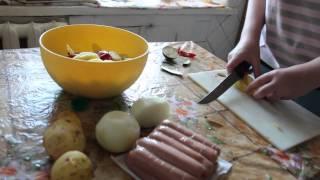 Овощи в микроволновке . Готовим очень быстро .