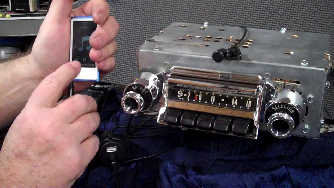 chevy radio 57 rover 75 airbag wiring diagram 1957 original wonder bar am push button youtube