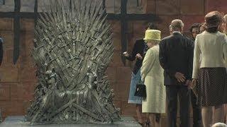 Download Video Queen visits set of Game of Thrones in Belfast MP3 3GP MP4