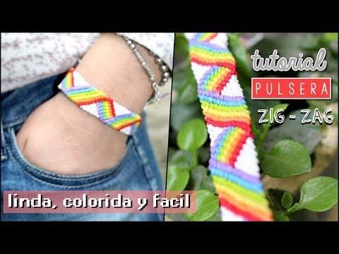 Pulsera de hilo Zig Zag Multicolor ! 3D🌈 Macrame / Friendship Bracelets