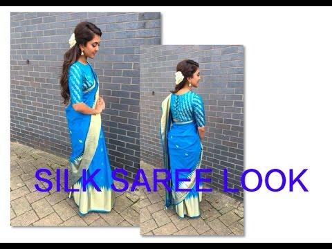 SILK SAREE LOOK   Tutorial   Tamil hair and make up artist