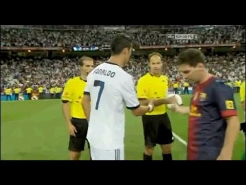 Messi refuses Ronaldo handshake!!!!