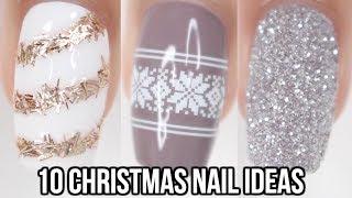 10 Easy Christmas Nail Ideas! | Christmas Nail Art For Beginners