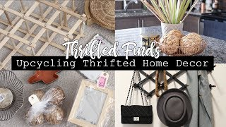 Upcycling Thrifted Home Decor! || THRIFTED FINDS!