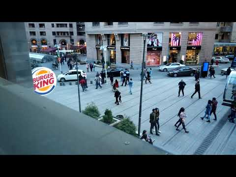 Northern Avenue In Yerevan, From Burger King