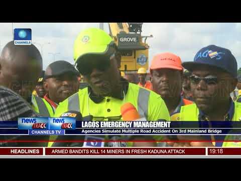 Agencies Simulate Multiple Road Accident On 3rd Mainland Bridge