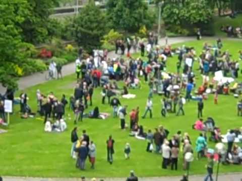 Union Terrace Gardens protest