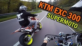 Illegal ride without licence plates | SUPERMOTO