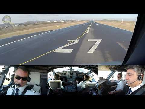 FULL POWER TOGA A320 Takeoff towards Canary Islands, Spain!!! [AirClips]