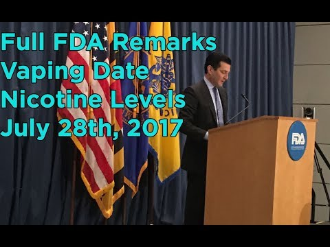 Dr. Scott Gottlieb's Speech at FDA re: Vaping