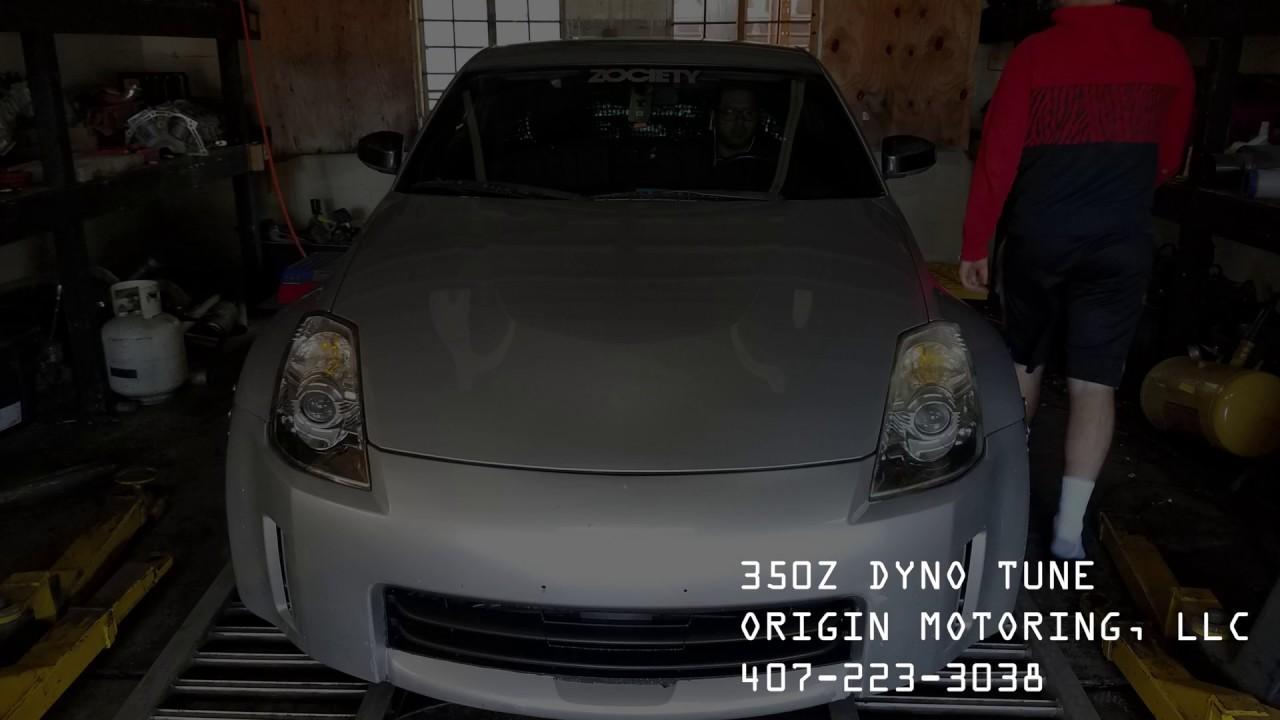 NISSAN 350Z HR - 301WHP DYNO TUNE - ORIGIN MOTORING ORLANDO FLORIDA