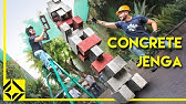 Cinder Block Jenga is Extremely Dangerous!