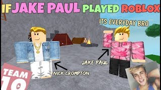 If Jake Paul Played ROBLOX