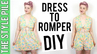 Dress To Romper DIY | The Style Pile #12
