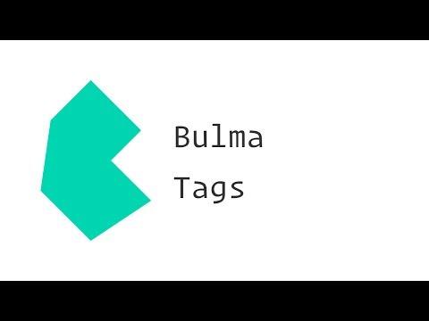 Bulma CSS Framework - Tags