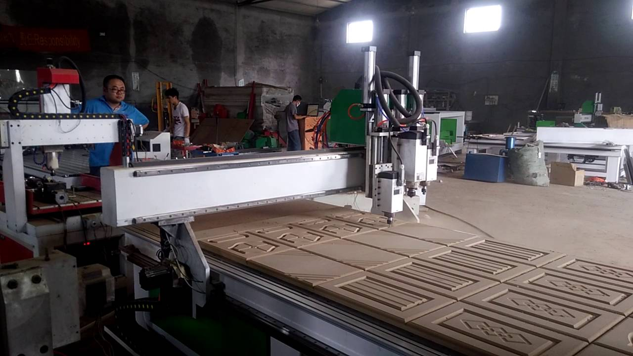 Cnc Router Machine Making Kitchen Cabinet Door Youtube