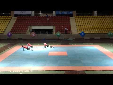 Aerobic giải nhất bài tự chọn 3 người HKPĐ tỉnh Điện Biên 2014