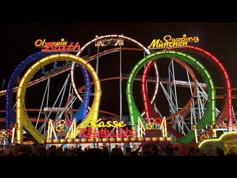 TPR Live! Tour of Oktoberfest Munich Germany w Olympia Looping Onride POV