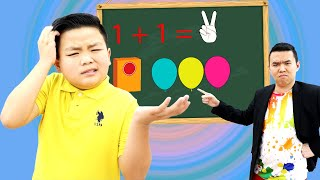 Alex and Eric Pretend Play School at Home | Funny Kids Video with Education for Kids