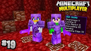 BEST NETHERITE GEAR in Minecraft Multiplayer Survival! (Episode 19)