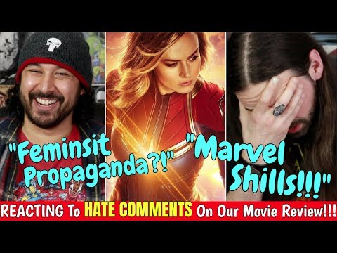 REACTION To Our CAPTAIN MARVEL HATE Comments!!!