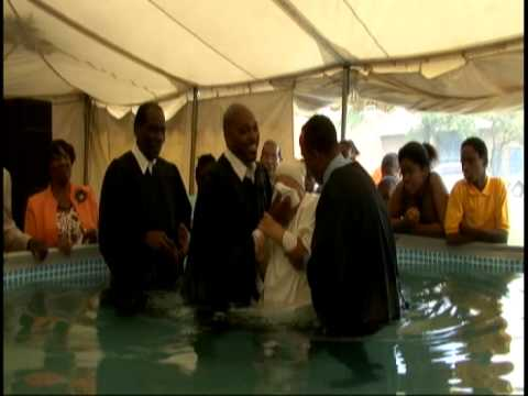 Bronx Church Tent Revival Baptism Aug. 2013