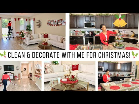 CHRISTMAS CLEAN & DECORATE 2019! // EXTREME CLEANING MOTIVATION // Jessica Tull cleaning