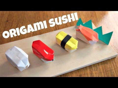 DIY Origami Sushi