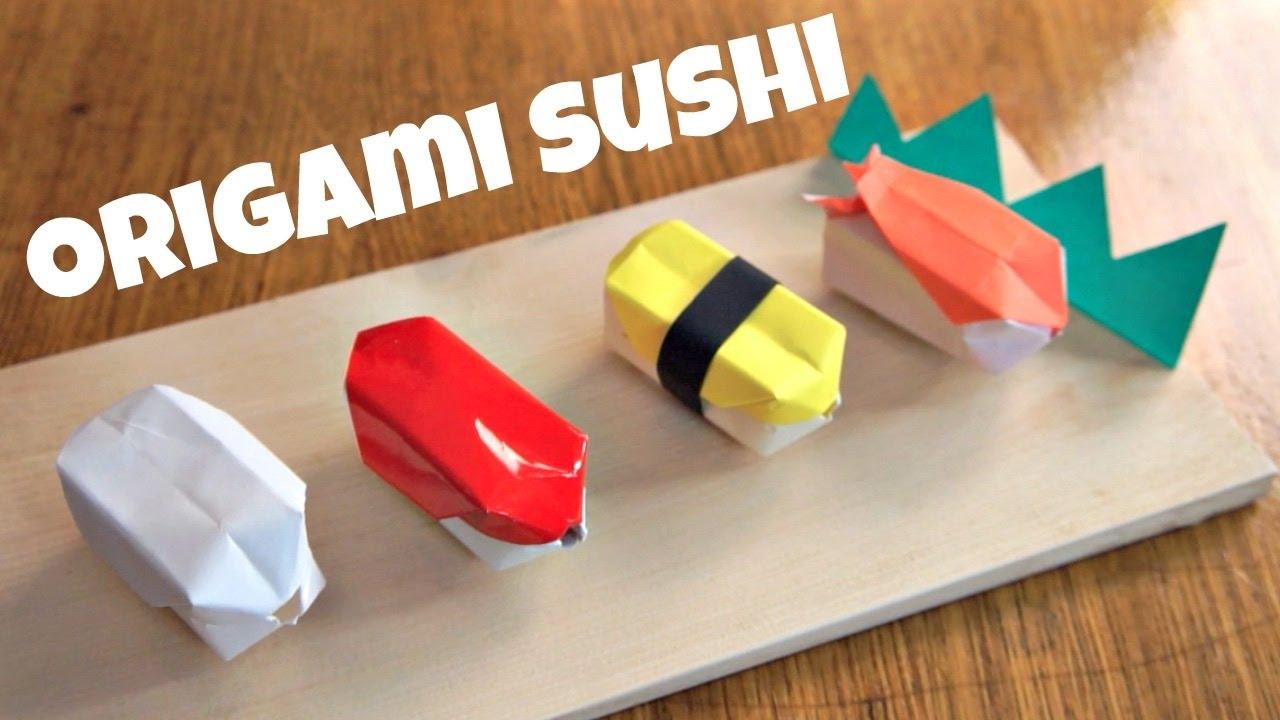 diy origami sushi youtube