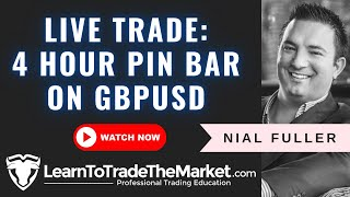 Live Price Action Trade - 4 Hour Pin Bar on GBPUSD