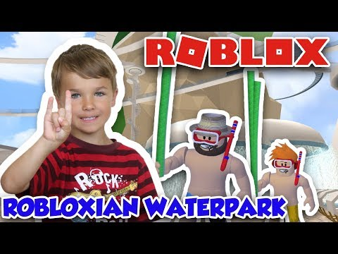 BULLYING MY DADDY WITH A POOL NOODLE in ROBLOX ROBLOXIAN WATERPARK