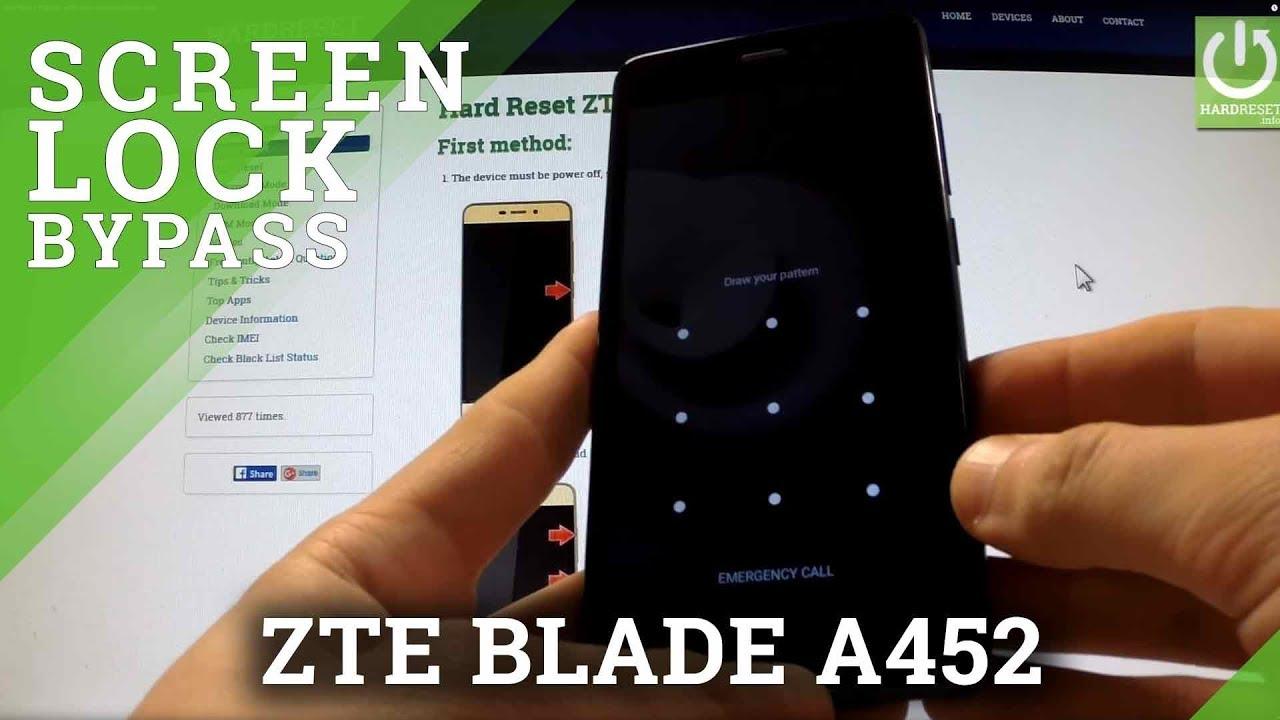 Hard Reset ZTE BLADE A452 - reset and bypass Screen Lock