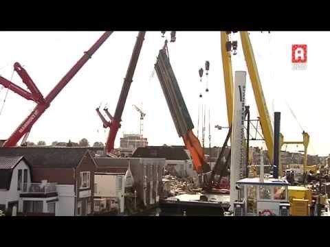Mammoet - Salvage of the collapsed bridge deck in Alphen aan den Rijn 8 oktober 2015