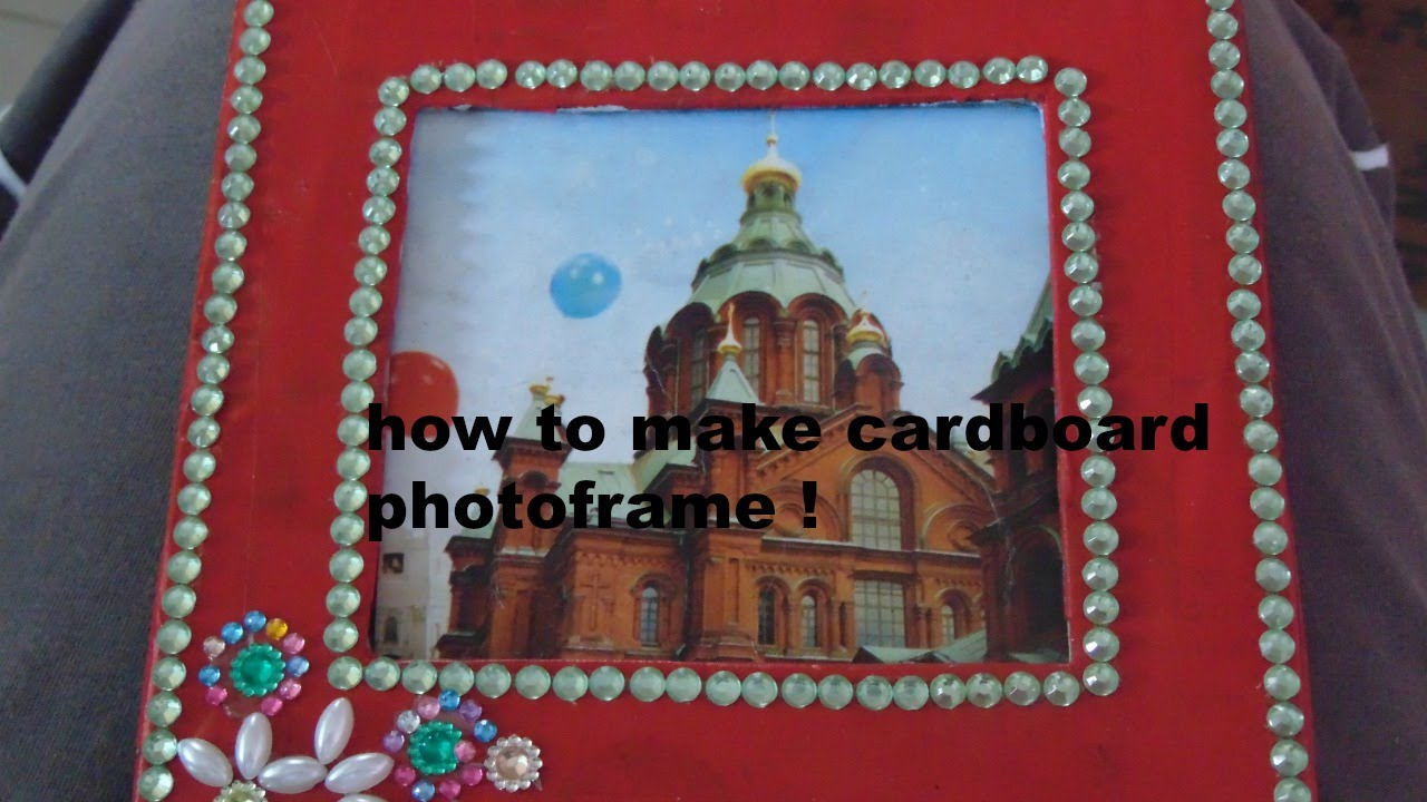 how to make cardboard photo frame easy diy roomhome decor
