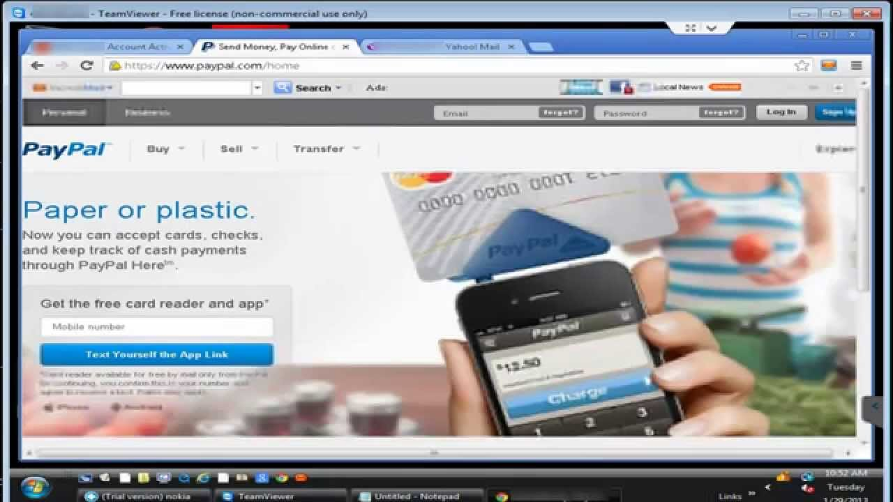 Transfer Money From a Bank Account to a PayPal Account