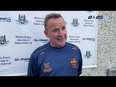 St Oliver Plunkett Eoghan Ruadh manager Derek Brennan speaks to DubsTV after win over Faughs