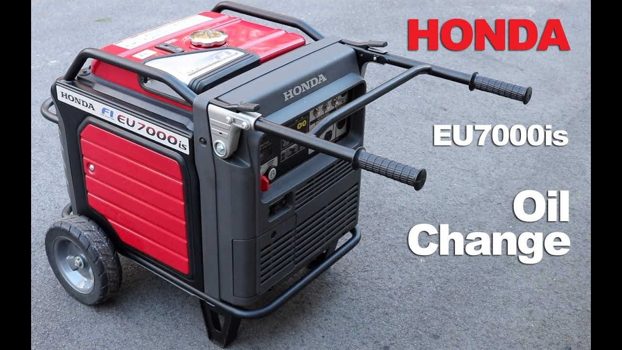 honda generator oil change eu7000is how to diy youtube rh youtube com
