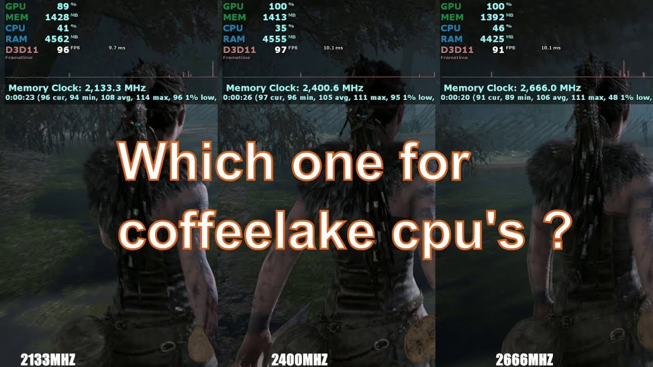 2133 vs 2400 vs 2666 Mhz RAM speed test | Coffeelake 8th gen i5 8400