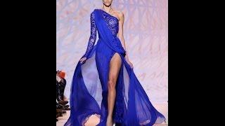 Синее Платье в Пол - 2019 - Мода - Стиль/Blue Dress/Das Blaue Kleid in Einem Boden. Женские Ножки в Колготки