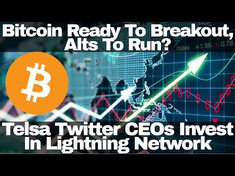 Crypto News | Bitcoin Ready To Breakout, Alts To Run? Telsa Twitter CEOs Invest In Lightning Network