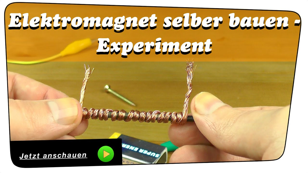elektromagnet selber bauen experiment anleitung youtube. Black Bedroom Furniture Sets. Home Design Ideas