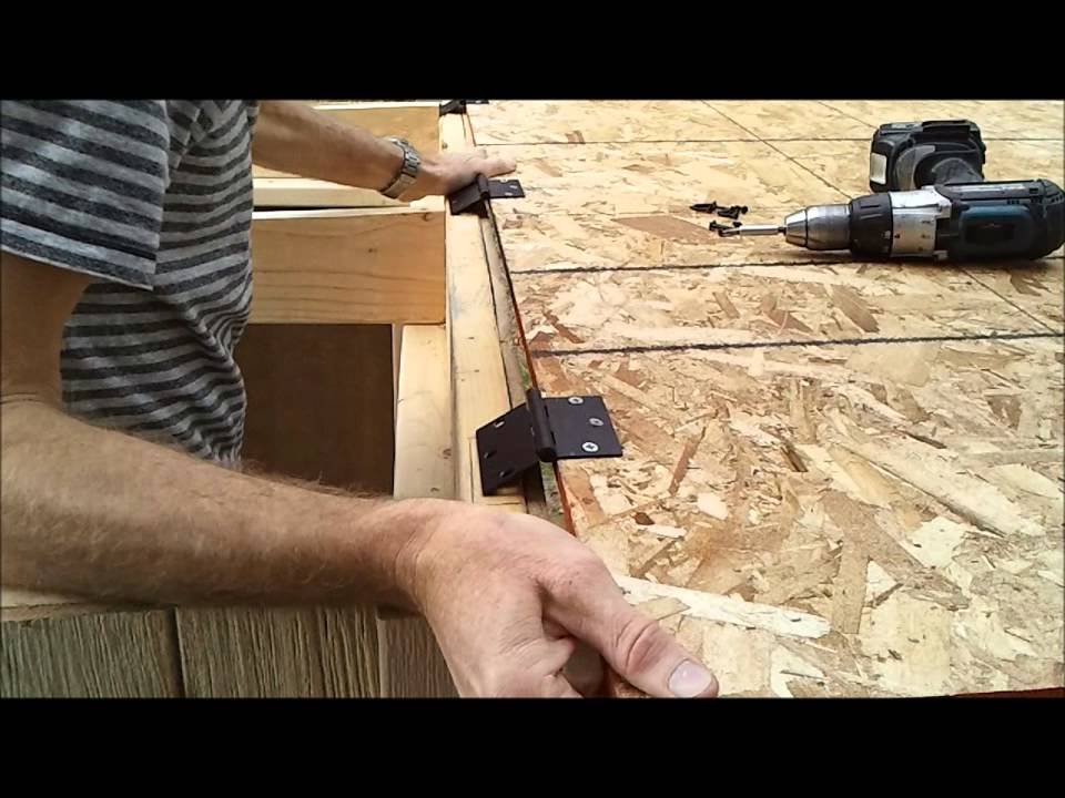 How to Build a Generator Enclosure Part 10 Installing Shed Roof Deck ...