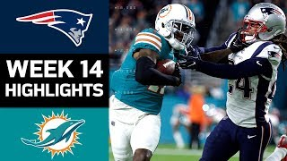 Patriots vs. Dolphins | NFL Week 14 Game Highlights Free HD Video