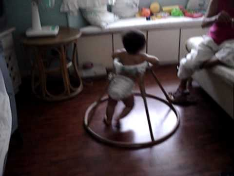Kai learning how to walk on the Philippine walker, the