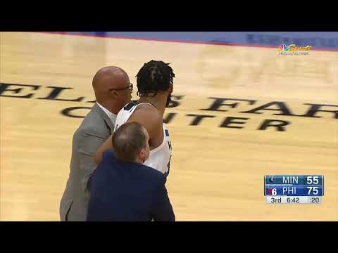The Scuffles Between Joel Embiid U0026 Karl Anthony Towns | Both Ejected After The Fight