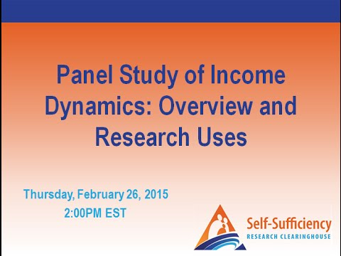 Panel Study of Income Dynamics: Overview and Research Uses